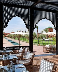 Ultra-luxurious hotel Selman, just outside Marrakech, offers a Henri Chenot spa, lavish rooms with French designer flair, an Olympic-sized swimming pool and Arabian horse shows to its glamorous guests. Olympic Size Swimming Pool, Swimming Pool Designs, Swimming Pools, Arabesque, Morocco Itinerary, Hotel Room Design, Garden Screening, Hotel Architecture, Arabic Design