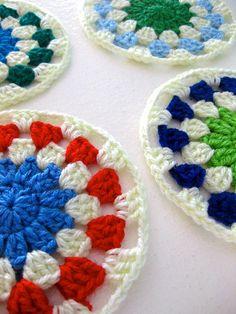 Crochet granny circles..