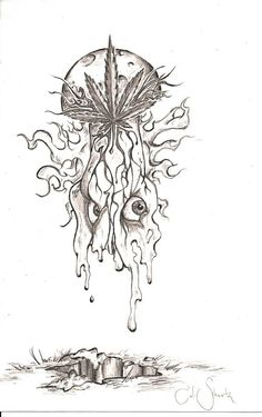 and skull tattoo by marijuana leaf tattoo weed leaf tattoo design Tattoo Sketches, Tattoo Drawings, Art Sketches, Art Drawings, Weed Tattoo, Leaf Tattoos, Body Art Tattoos, Mushroom Tattoos, Mushroom Drawing