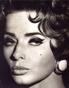 Isabella Rossellini as Sophia Loren by Steven Meisel for Vogue Italia