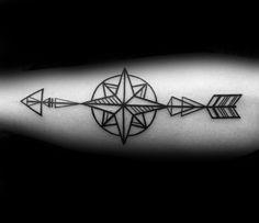 40 Geometric Arrow Tattoo Designs For Men & Sharp Geometry Ideas > > 40 Geometric Arrow Tattoo Designs For Men – Sharp Geometry Geometric Arrow Tattoo Designs For Men – Sharp Geometry IdeasThe ar Simple Arrow Tattoo, Arrow Tattoo Design, Arrow Design, Arrow Tattoos, Line Tattoos, Tattoos For Guys, Geometric Line Tattoo, Black And White Design, Geometric Designs