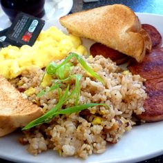 Scrambled Eggs with Spam and Fried Rice @ Market Street Diner