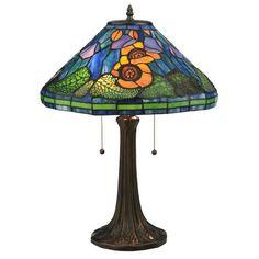 Meyda Tiffany Tiffany Poppy Cone Table Lamp MT-119554 $275.40