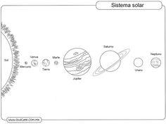 fichas para trabajar el sistema solar con niños de primaria - Cerca amb Google