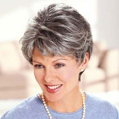 salt and pepper gray hair styles - Google Search