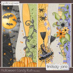 Halloween Candy Rush Borders :: Gotta Pixel Digital Scrapbook Store