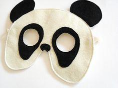 Panda Bear Felt Mask for Children, Kids Animal Halloween Carnival Mask, Dress up Costume Accessory, Pretend Play Toy for Girls Boys Toddlers