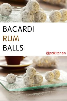 These sweet little bites of rummy goodness make for a great impressive dessert recipe for the holidays. They are perfect for parties or to give as gifts. Candy Recipes, Sweet Recipes, Holiday Recipes, Cookie Recipes, Dessert Recipes, Christmas Recipes, Delicious Desserts, Christmas Desserts, Christmas Baking