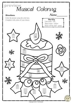 This Set Of 20 Music Worksheets Christmas Themed Is Designed To Help Your Students Practice Identifying Whether A Pitch On Line Or In Space And