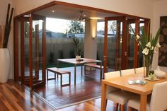 Aluminium or western red cedar sliding stacker doors or bi-fold doors' construction guarantees that the good looks last. Description from selector.com. I searched for this on bing.com/images