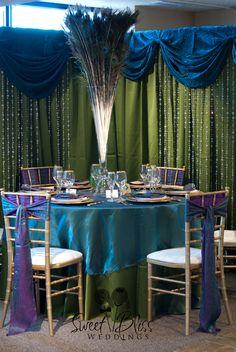 """Arabian Nights"" tablescape #Indian #Wedding #Peacock"