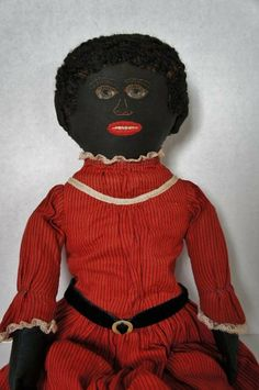 """Antique black doll of the finest quality 21"""" 1870-80"""