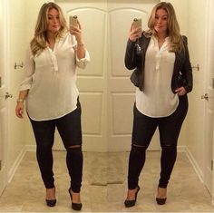 laura lee plus size model – Plus Size Models Curvy Outfits, Mode Outfits, Plus Size Outfits, Fall Outfits, Casual Outfits, Fashion Outfits, Fashion Tips, Plus Size Winter Outfits, Casual Jeans