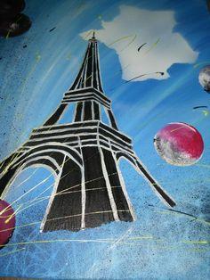 toile abstraite  en peinture acrylique