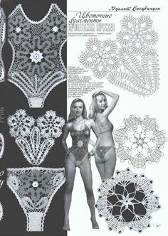 Bikini BRA Panties Short Swimsuit Crochet Patterns Book Magazine Special Duplet | eBay