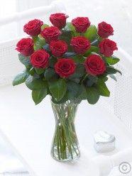 Elegant Red Rose Vase