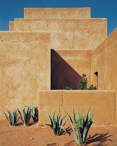 Studio KO design in Al Ouidane, Morocco . Walls are made of sun dried mud bricks covered with raw earth coating. Ph. Dan Glaser