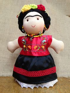 12 inch Frida Kahlo Doll by NaanManika on Etsy, $1870.00