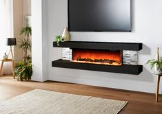 Shop for Evolution Fires Vegas 72 Electric Fireplace - Black Stone Tiles - Built in the USA. Get free delivery On EVERYTHING* Overstock - Your Online Home Decor Outlet Store! Floating Fireplace, Wall Mounted Fireplace, Fireplace Heater, Ethanol Fireplace, Fireplace Inserts, Wall Mounted Electric Fires, Wall Mount Electric Fireplace, Living Tv, Living Spaces