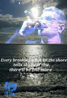 Lyrics Every breaking wave by U2