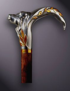 siver/gold walking stick