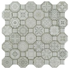 Creating a union of old-fashioned elegance and modern artistry is no simple task and yet, the Edredon does so beautifully. The Edredon White has a variety of pale gray old-world patterns and a light stone look in an assortment of small squares and octagons.