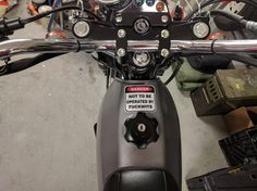The fuel warning sticker messed up the paint when I removed it so I found a replacement  r/motorcycles