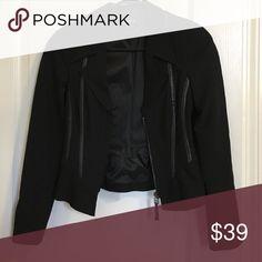 Black zip up Bebe jacket Perfect like new condition, worn 2-3 times bebe Jackets & Coats Blazers
