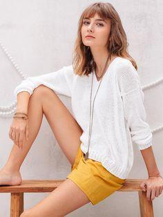 FLEURINE genser i Phil Petillant Jumpers, Denim Skirt, Sarees, Mini Skirts, Easy, Fashion, Moda, Fashion Styles, Jumper