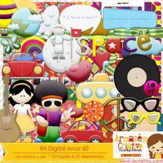 Kit digital inspirado nos anos 60 Já a venda na loja  http://acriativo.com/loja/index.php?main_page=product_info=34_id=635