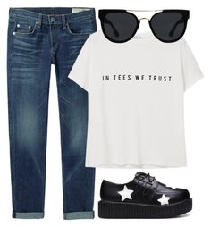 """""""#36"""" by mandyhoran1 ❤ liked on Polyvore featuring rag & bone/JEAN, MANGO and Quay"""