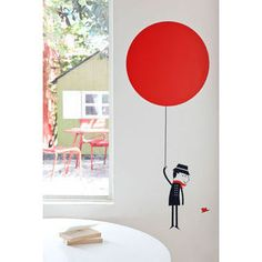 The jury's still out on wall decals but this French design is quite sweet