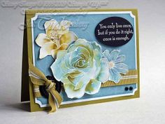 You Only Live Once Inspirational Greeting Card Hand by JanTink, $5.95
