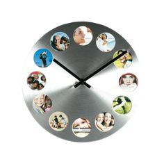 Hliníkové hodiny s fotorámečky