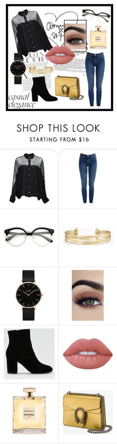 """""""Casual Elegance"""" by mirjamke ❤ liked on Polyvore featuring Victoria Beckham, Gucci, Stella & Dot, CLUSE, American Eagle Outfitters, Lime Crime and Chanel"""