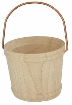 """2"""" Unfinished Wood Watering Bucket"""