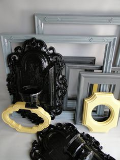 grey black and yellow frames...
