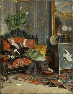 Young Woman Reading Lucius Rossi (Italian, Oil on panel. The Clark Art Institute. Rossi's small panel is filled with details. Within this extravagantly decorated interior—which.