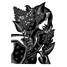 Etsy の ライラックの香りリノリウム by WingedLion