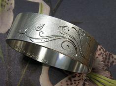 * push present | oogst-sieraden * Armband * Zilver met handgravure * Ter ere van geboorte van Leefke *