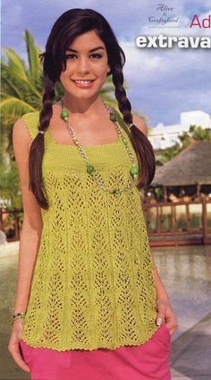 Vibrant Summer Tank Top knitted and Crocheted Ebook Pattern High Quality PDF modele tricot débardeur ete. $1.90, via Etsy.