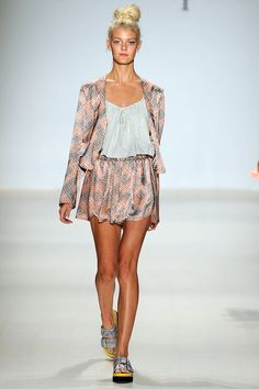 A look from the Nanette Lepore Spring 2015 RTW collection.