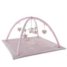 Tappeto da gioco neonato in cotone rosa 90 x 90 cm VICTORINE   Maisons du Monde