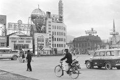 札幌駅前広場と商店街  (中央区・昭和30年)