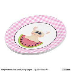 BBQ Watermelon time party paper plate  sc 1 st  Pinterest & Italian chef Baking Pizza party paper plate | Italian chef Pizza ...