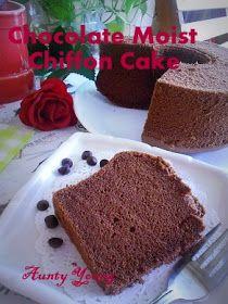 Aunty Young(安迪漾): 湿润巧克力戚风蛋糕 (Chocolate Moist Chiffon Cake) Chocolate Chiffon Cake, Vanilla Cake, Pudding, Desserts, Food, Tailgate Desserts, Deserts, Custard Pudding, Essen
