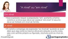 Português para todos: Em nível ou a nível