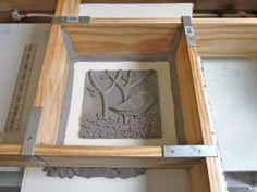 Sandy Bruckner: plaster mold form for tiles