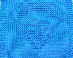 Large Knitting Cloth Pattern - SUPER HERO - PDF