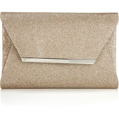 Accessorize Glitter Bar Envelope Clutch ($8.25) ❤ liked on Polyvore featuring bags, handbags, clutches, clutches / wallets / purses, purses, mink, chain strap purse, brown handbags, hand bags and glitter purse